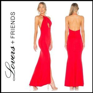 NWT LOVERS + FRIENDS Rosa Gown in Red Rose, Size M